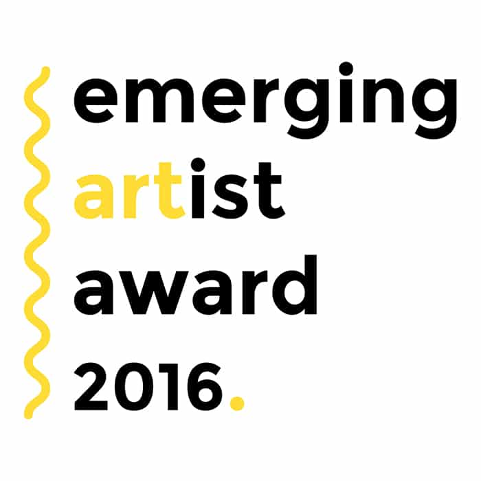 Emerging Artist Award 2016 Logo, Design By Zac Fay Design