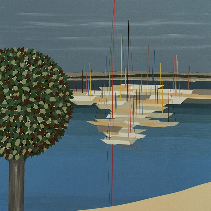 Josef Brunhuber, Brighton Perfect, acrylic on canvas, 1200 x 1200 mm
