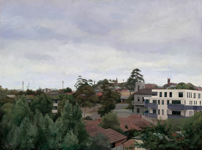Alexandra Sassé, A Quiet Day in Northcote, 2016, oil on canvas, 65 x 85cm