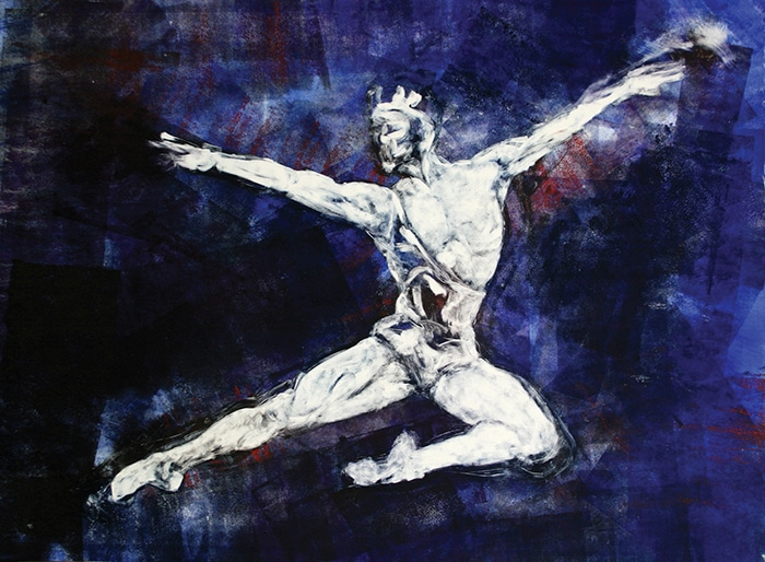 Flying Puck 1 (2009) Monotype on Velin Arches paper 75.5 x 103cm