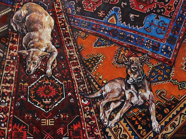 Street Dog 3, oil on canvas, 91 x 122cm